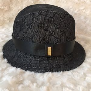 Accessories - Black monogram print bucket hat